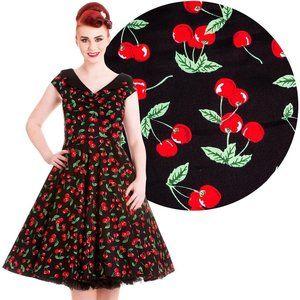 Hell Bunny Vixen Cherry Pop Knee Length Dress